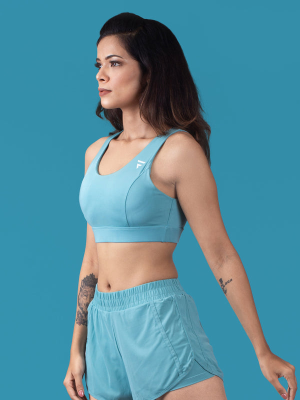 Active Sports Bra - Blue - FLEXCHAMPS INDIA