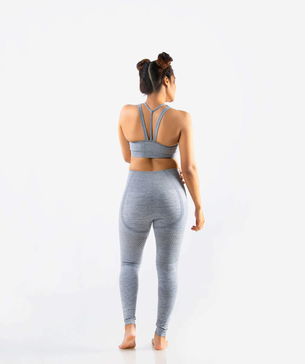 Curvus Seamless Leggings - Light Gray - FLEXCHAMPS INDIA