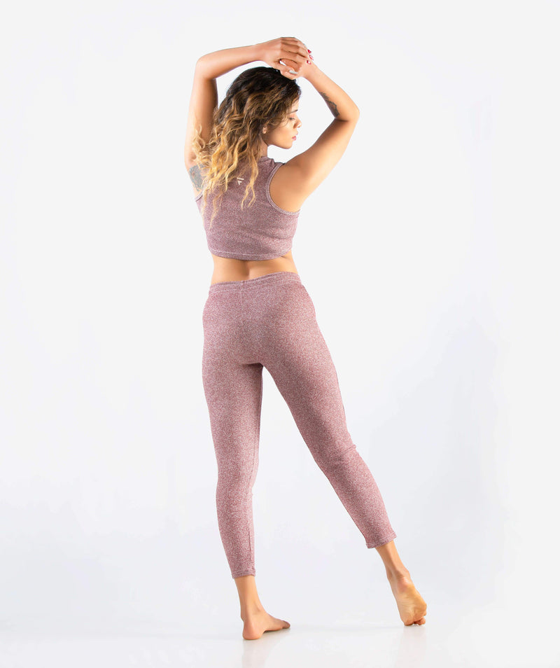 Slounge 7/8 Leggings - Plum Marl - FLEXCHAMPS INDIA