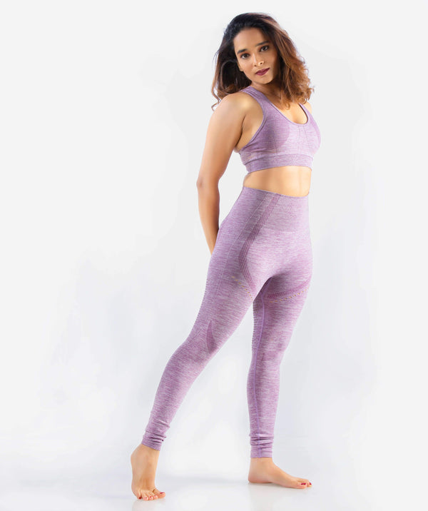 Curvus Seamless Leggings - Purple - FLEXCHAMPS INDIA