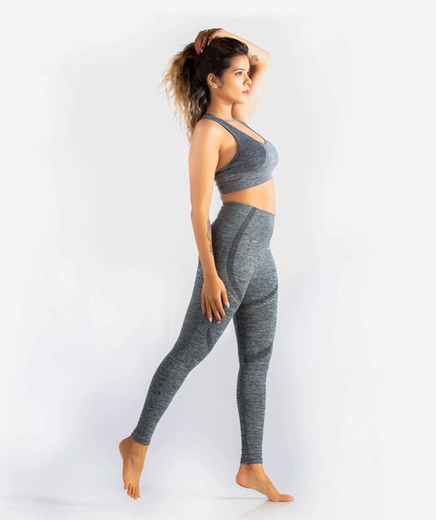 Curvus Seamless Leggings - Dark Gray - FLEXCHAMPS INDIA