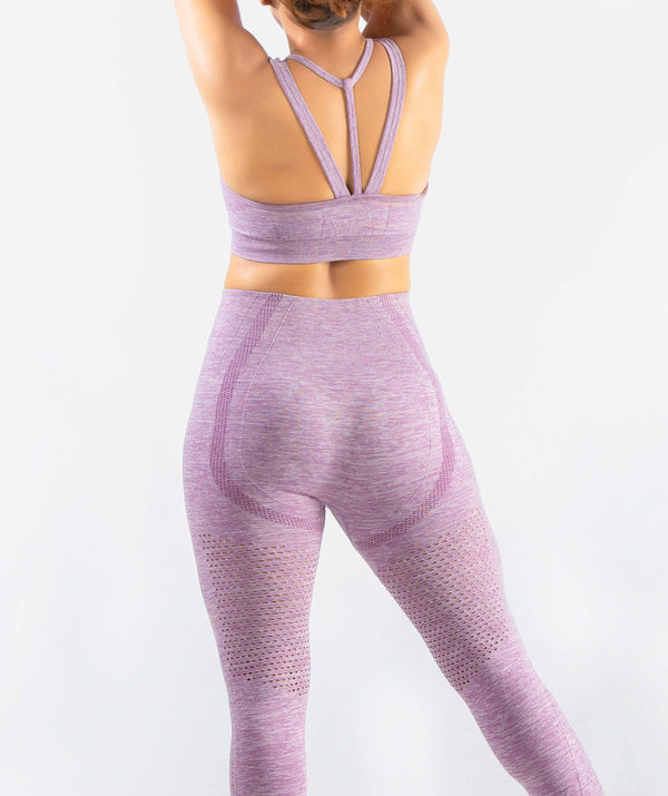 Curvus Seamless Sports Bra - Purple - FLEXCHAMPS INDIA