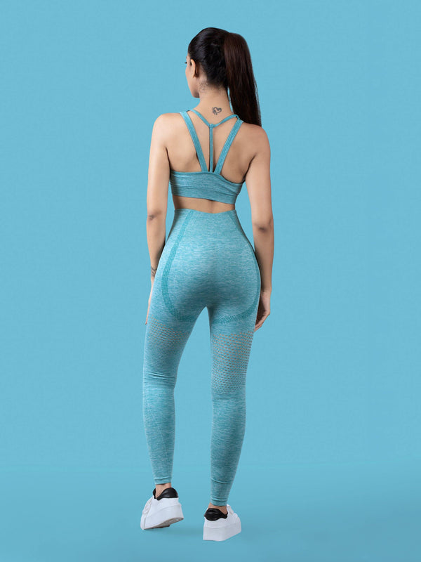 Curvus Seamless Sports Bra - Blue Green