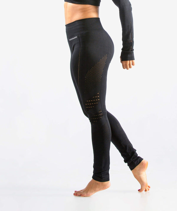 Arise Seamless Comfort Leggings - Black - FLEXCHAMPS INDIA