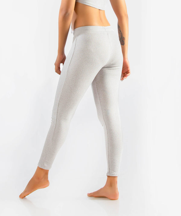 Slounge 7/8 Leggings - Light Gray Marl - FLEXCHAMPS INDIA