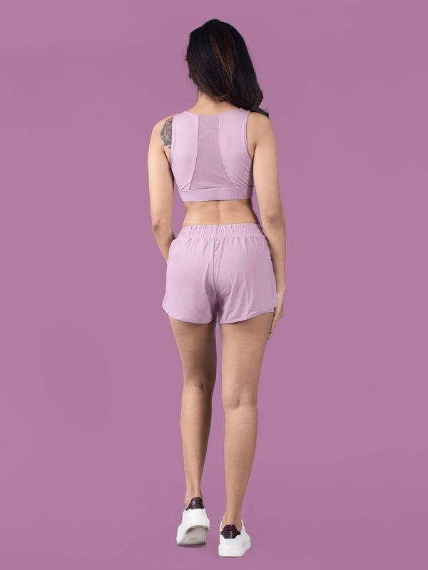 Active Short - Lilac - FLEXCHAMPS INDIA
