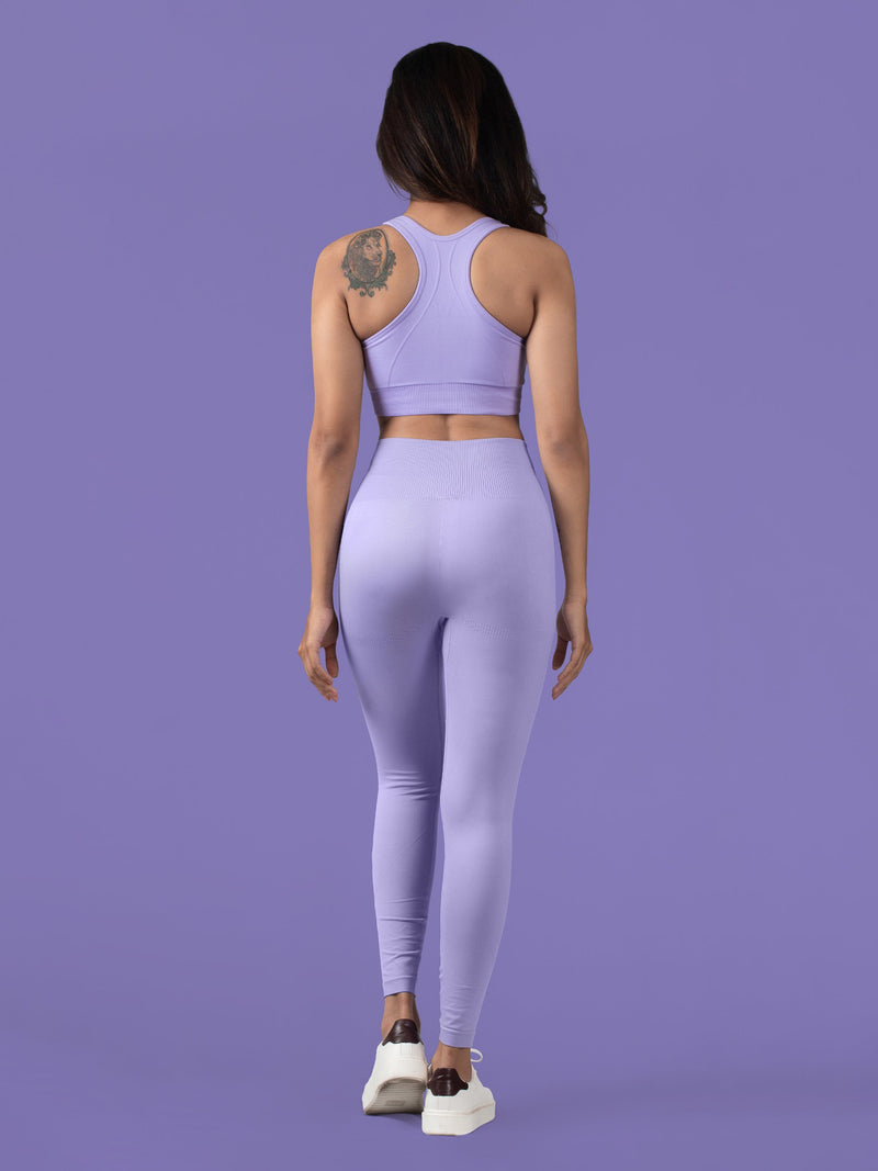 Revival Seamless Leggings - Lavender - FLEXCHAMPS INDIA