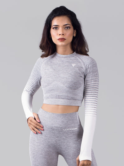 Ombré Seamless Full Sleeve Top - FLEXCHAMPS INDIA