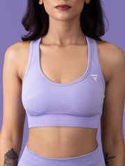 Revival Seamless Sports Bra - Lavender - FLEXCHAMPS INDIA