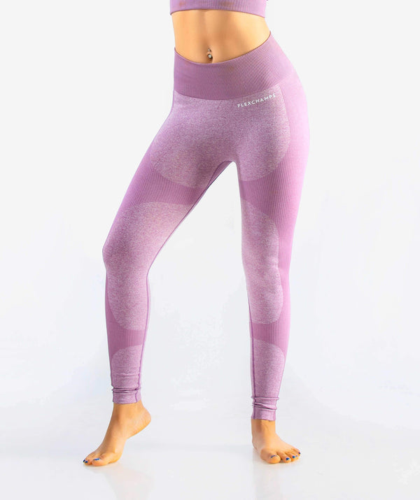Eclipse Seamless Leggings - Purple - FLEXCHAMPS INDIA