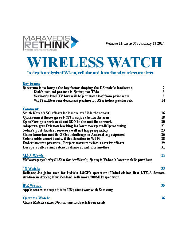 Wireless Watch 528: The US mobile landscape in 2014