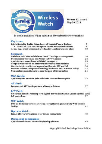 Wireless Watch 545: Intel makes big play for China