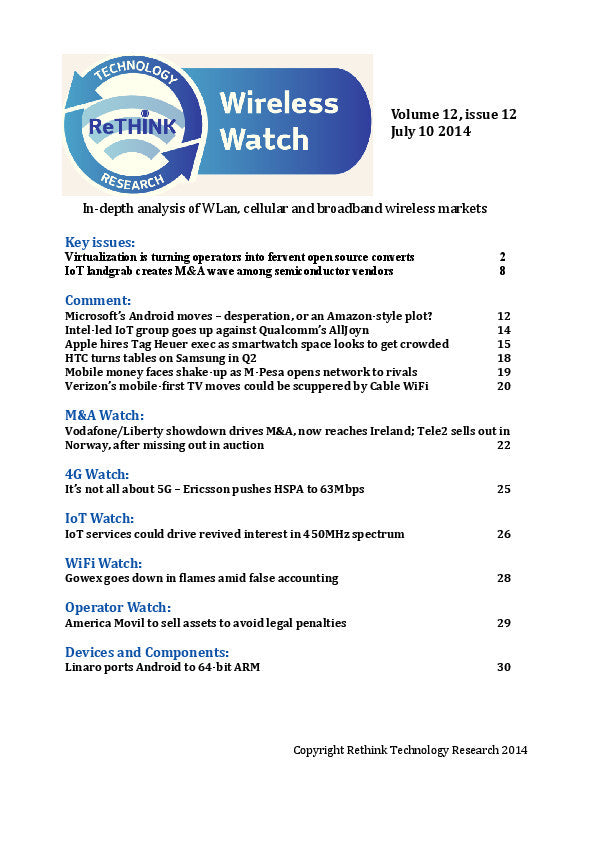Wireless Watch 551: NFV carriers turn to open source