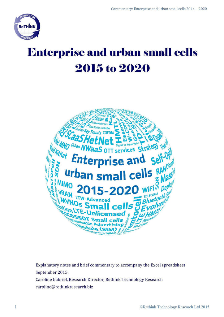 Enterprise Small Cells 2015 to 2020