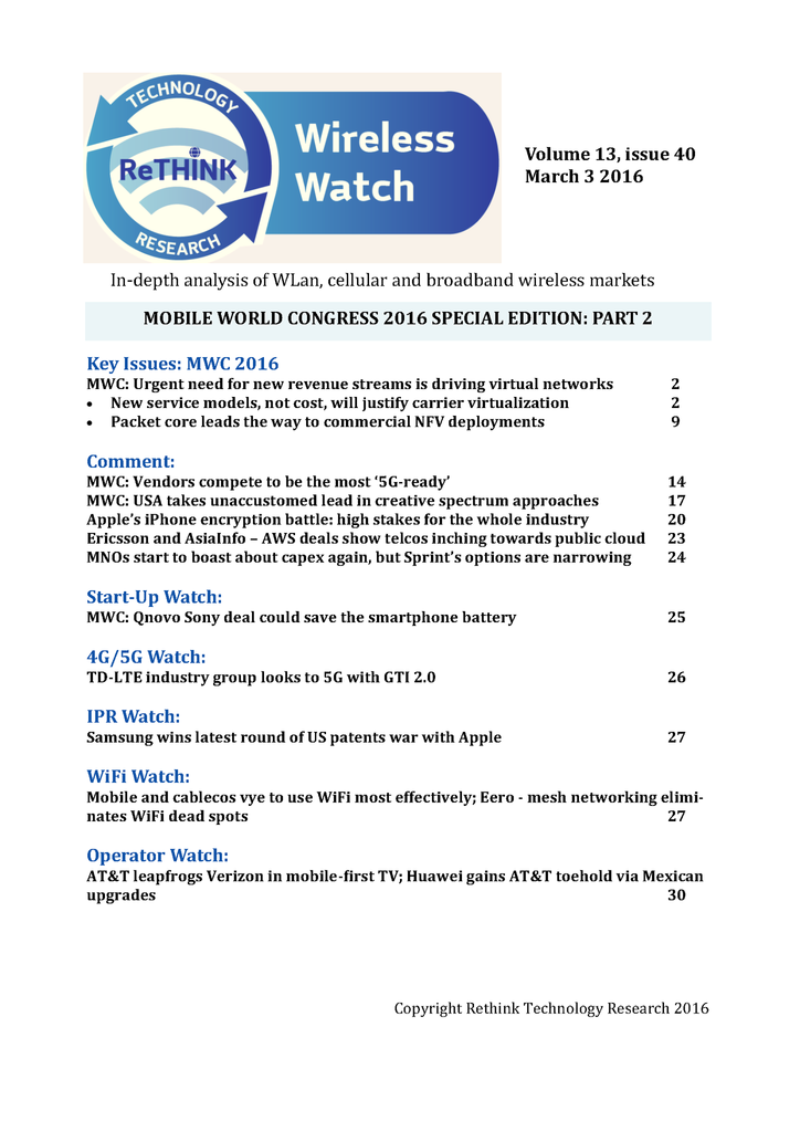Wireless Watch 628 March 3: MWC special edition part 2