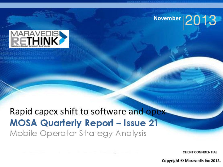 MOSA Quarterly Report: Rapid capex shift to software and opex