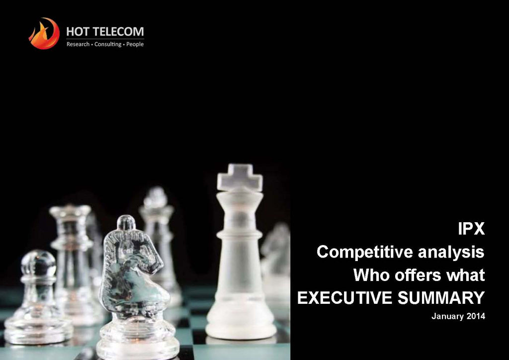 IPX Competitive analysis Who offers What?