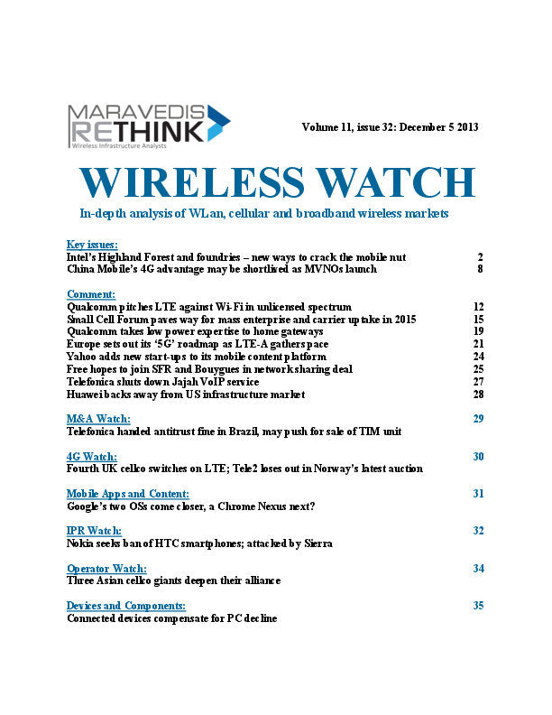 Wireless Watch 523: Intel mounts biggest comms infrastructure challenge