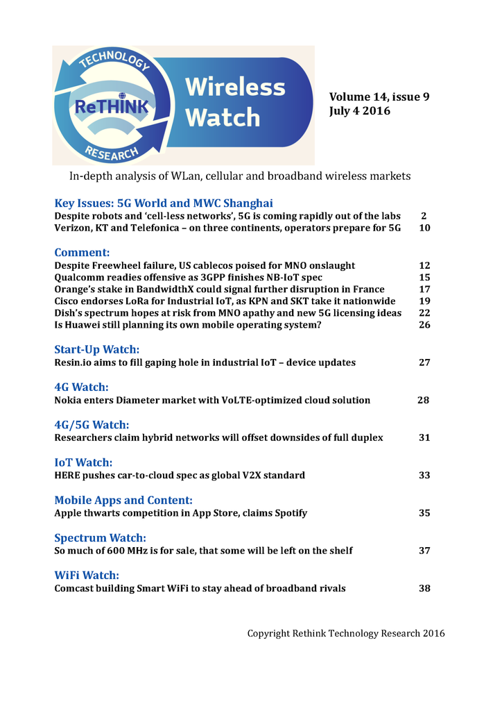 Wireless Watch 645 July 4: 5G World special