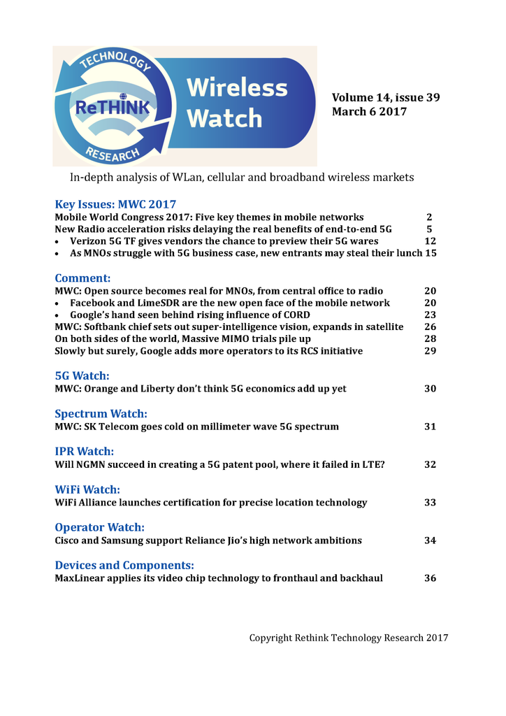 Wireless Watch 676 March 6: MWC 2017 special