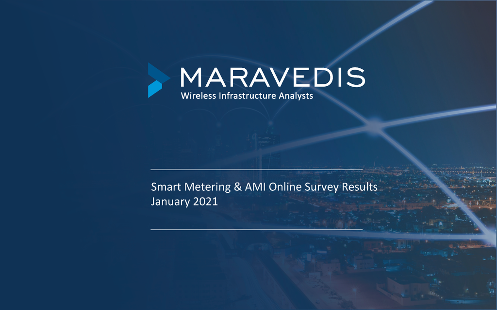 Smart Metering & AMI Online Survey Results January 2021