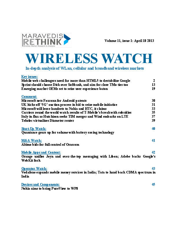 Wireless Watch 492: Sprint should choose Dish over Softbank, and aim for close TMo ties too