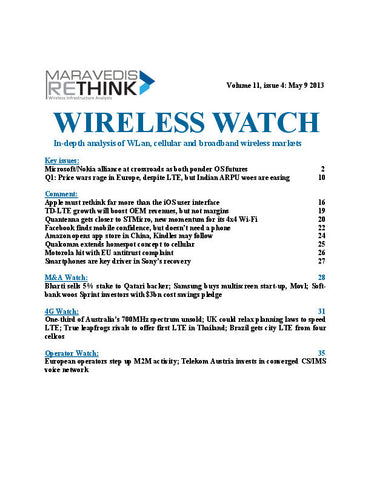 Wireless Watch 495: Price wars rage in Europe, despite LTE, but Indian ARPU woes are easing