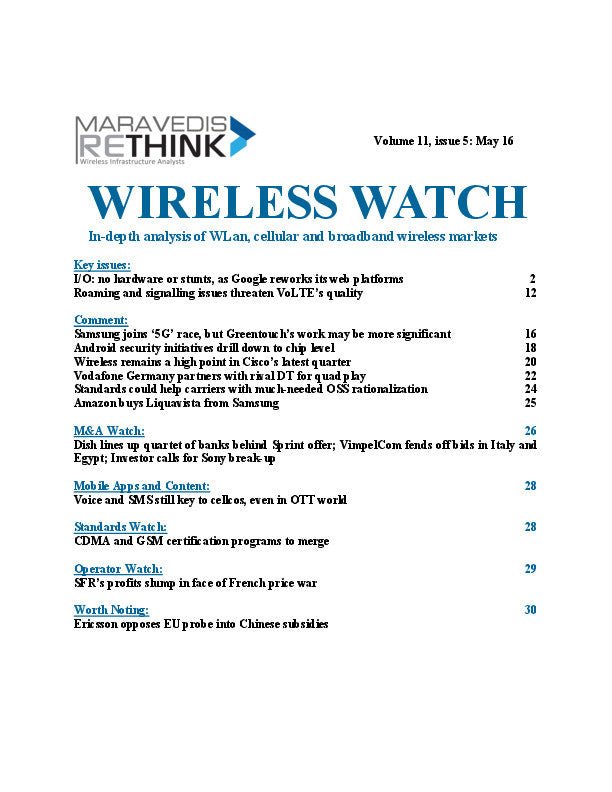 Wireless Watch 496: Roaming and signalling issues threaten VoLTE's quality