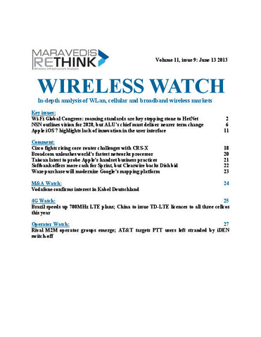 Wireless Watch 500: Global Wi-Fi Congress edition