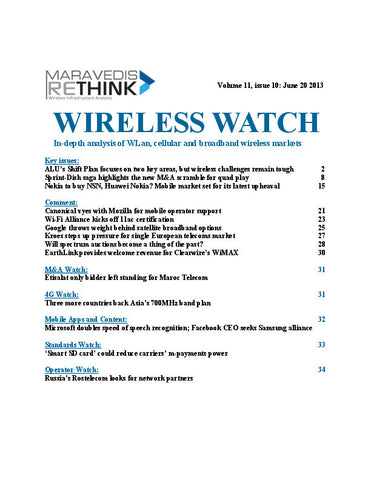 Wireless Watch 501: NALU's Shift Plan focuses on two key areas, but wireless challenges remain tough