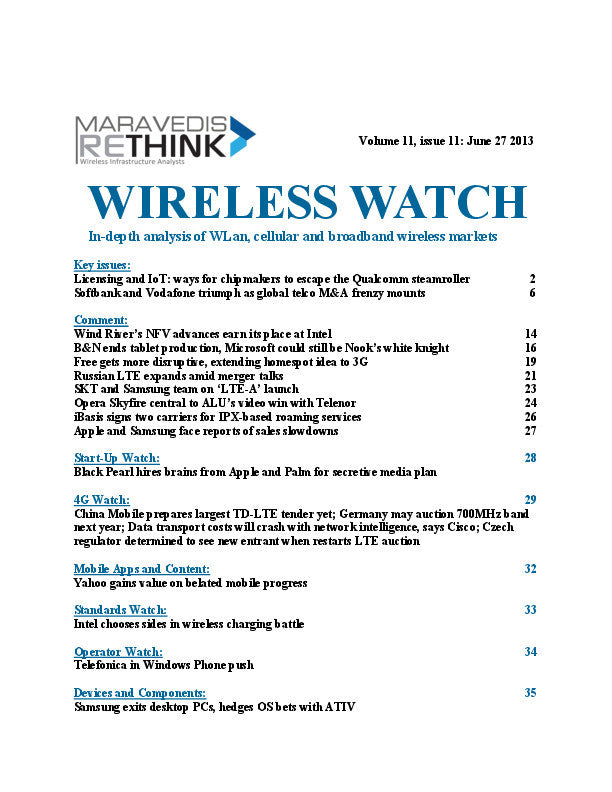 Wireless Watch 502: Softbank and Vodafone triumph as global telco M&A frenzy mounts