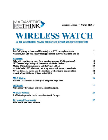 Wireless Watch 508: Intel's Fujitsu purchase could be catalyst in LTE smartphone battle