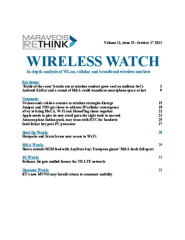 Wireless Watch 516: Battle of the cores spreads to infrastructure