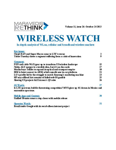 Wireless Watch 517: Cloud-RAN and Super Macro come to LTE's rescue