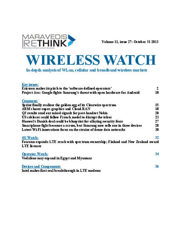 Wireless Watch 518:  Ericsson shows latest SDN platform