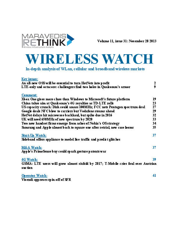 Wireless Watch 522: An all-new OSS will be essential to turn HetNets into profit