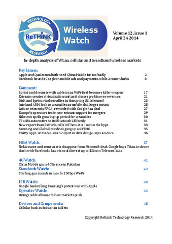 Wireless Watch 540: China holds power in Q1 results