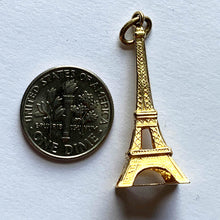 Load image into Gallery viewer, 18K Yellow Gold Eiffel Tower Charm