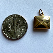 Load image into Gallery viewer, Paul Flato Attrib. Yellow Gold Enamel Envelope Charm Pendant