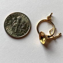 Load image into Gallery viewer, French 18K Yellow Gold French Horn Charm Pendant
