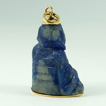 Load image into Gallery viewer, 18K Yellow Gold Blue Lapis Lazuli Buddha Large Charm Pendant