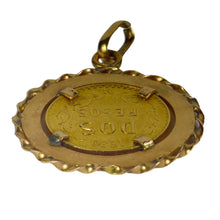 Load image into Gallery viewer, 1920 Dos Pesos (Two Peso) Mexican Yellow Gold Coin Charm Pendant