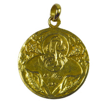 Load image into Gallery viewer, French 18K Yellow Gold Rasumny Wine and Wheat Harvest Charm Pendant