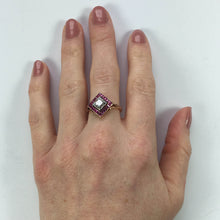 Load image into Gallery viewer, Edwardian 1.20 Carat Diamond Ruby Ring