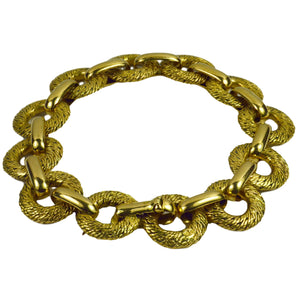 Georges L'Enfant French Yellow Gold Link Bracelet