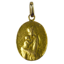 Load image into Gallery viewer, French 22K Yellow Gold Oscar Roty Madonna and Child Charm Pendant