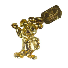 Load image into Gallery viewer, Yellow Gold Walt Disney Mickey Mouse Charm Pendant