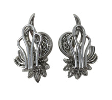 Load image into Gallery viewer, Diamond Platinum Flower Spray Earrings