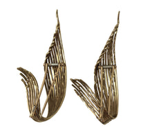Load image into Gallery viewer, Pierre Sterlé 1950s Pair of Gold Feather Clip Brooches