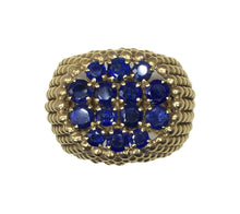 Load image into Gallery viewer, French Sapphire Gold Ring, circa 1950